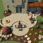 a landscape design in 3d