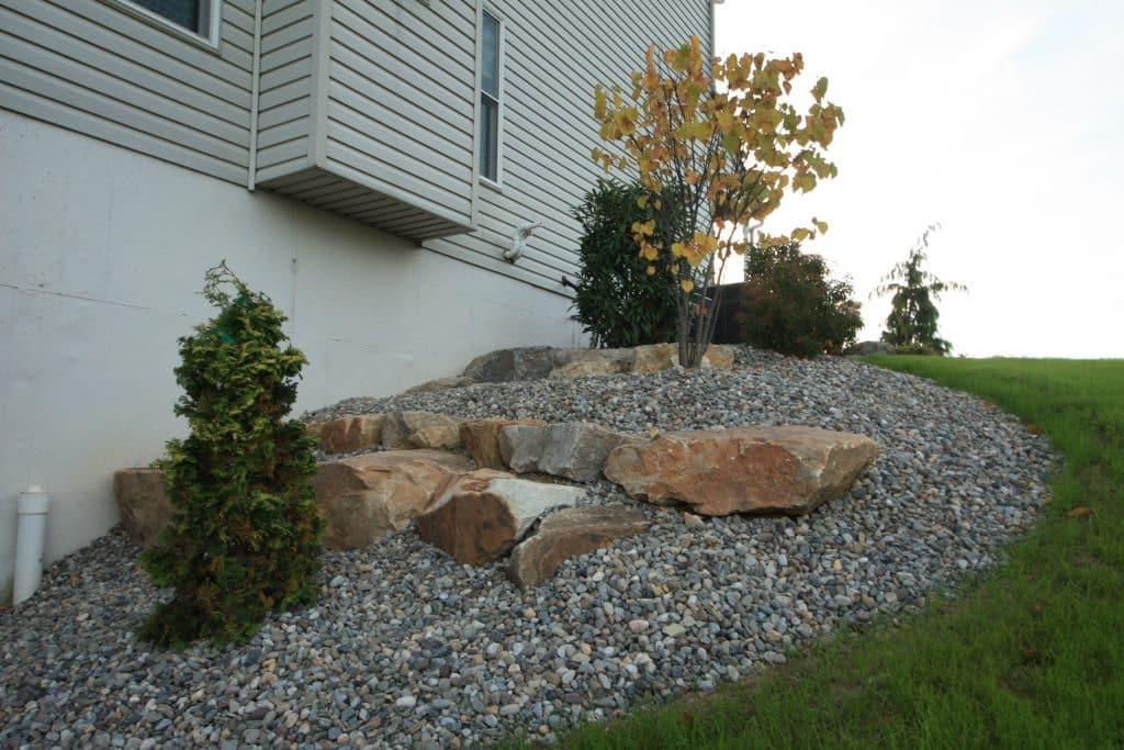 Landscape Boulder Wall