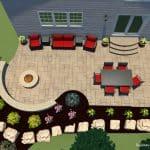 A patio design for a backyard