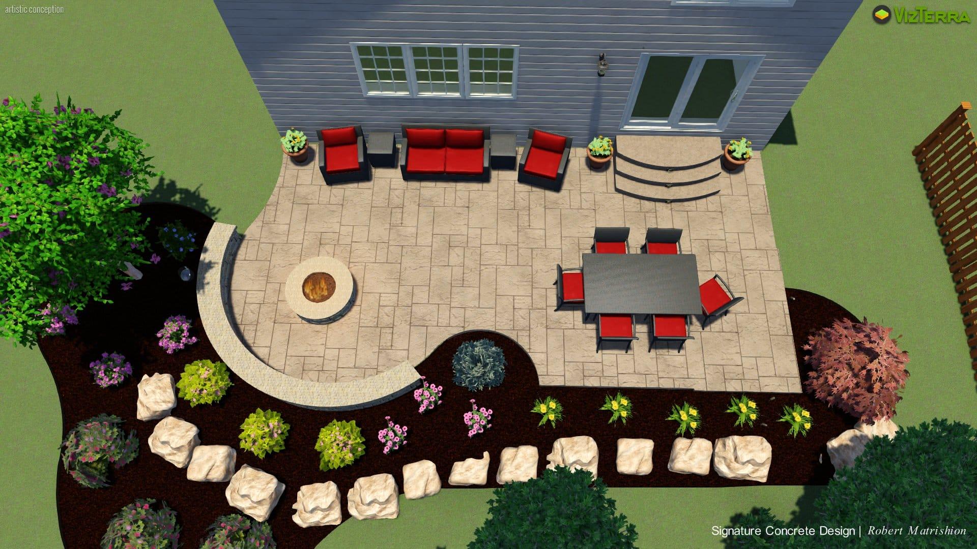 A Patio Design For Backyard